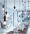 Скандинавские стеклянные шаровые подвесные светильники  промышленный подвесной светильник  светодиодные подвесные светильники для кухни ...