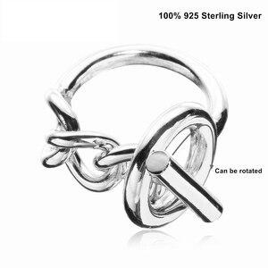Image 4 - Moonmory 925 Sterling Silber Seil Kette Ring Mit Hoop Lock Für Frauen Französisch Beliebte Verschluss Ring Sterling Silber Schmuck Machen