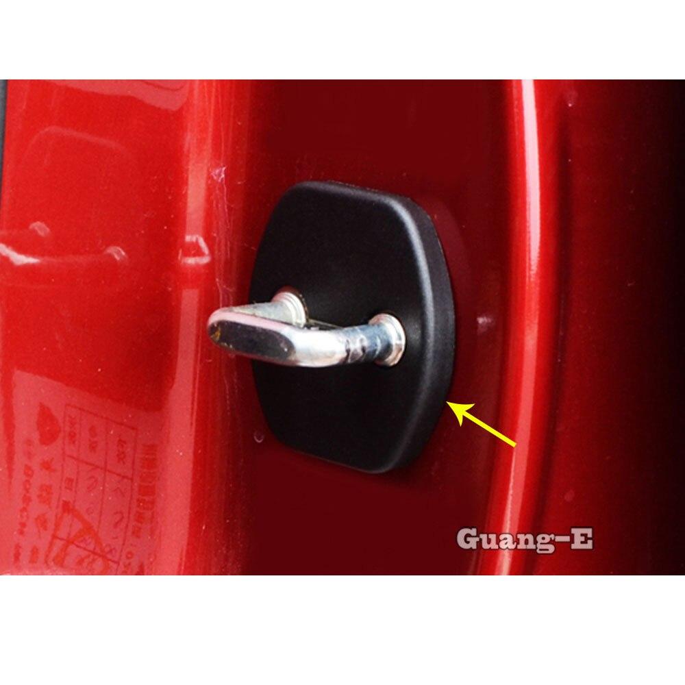 Car Body Interior Anti Rust Water Proof Door Lock Keys Key Protect Buckle Cover 4pcs/Set For Nissan Qashqai 2019 2020