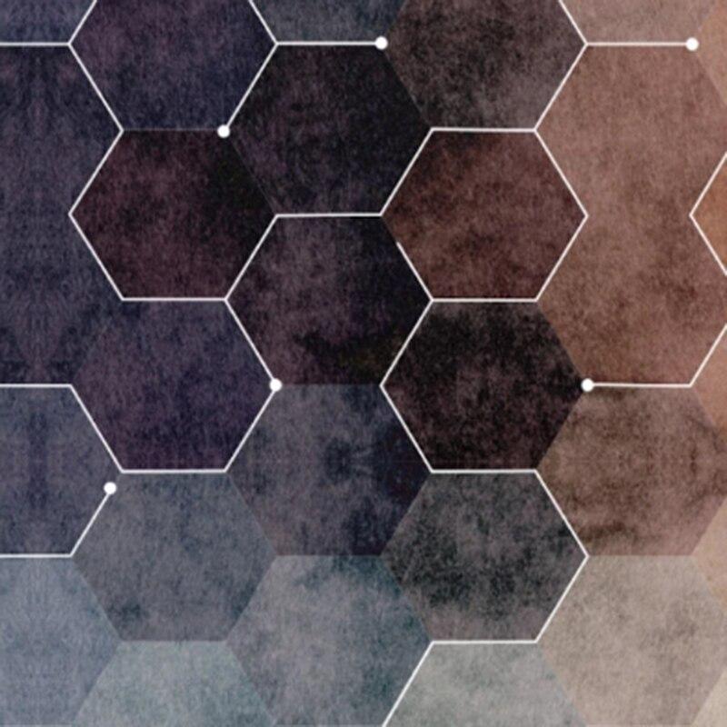 Papel Tapiz Custom Wallpaper Mural 3d Three-Gimensional Hexagon Mosaic Modern Minimalist Geometric Living Room Background Wall