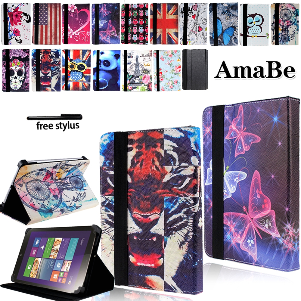 Drop Resistance Print Leather Tablet Stand Cover Case For 7