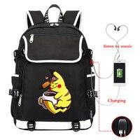 2019 Pokemon School Backpack Plecak Szkolny Men's Backpacks BANG CHAN FELIX WOOJIN MINHO Travel Laptop Bagpack USB Charging