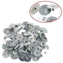 100 200Pcs świeca knot Metal Sustainer Wick Tabs srebrny do odlewania świec prezent 12 5*2 5mm Drop Ship tanie tanio CN (pochodzenie)