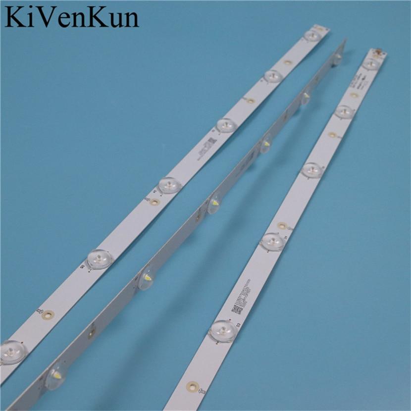 7 Lamps 620 Mm LED Backlight Strips For LG 32LH500D Bars Kit TV LED Line Bands HD Lens GJ-2K16 D2P5-315 D307-V2.2 LB32080 V0_00