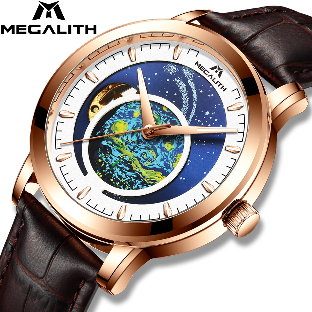 MEGALITH Men Automatic Mechanical Watches Top Luxury Brand Automatic Watch Male Waterproof Business Clock Relogio Masculino 2020