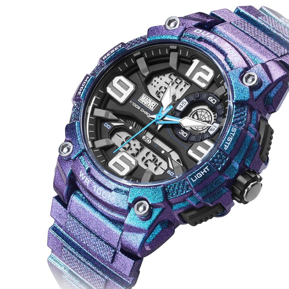 Disney Marvel Iron Man Wristwatch Waterproof Men's Sports Watch Trend Personality Digital Watch Men 10Bar Fitness Watch Buckle