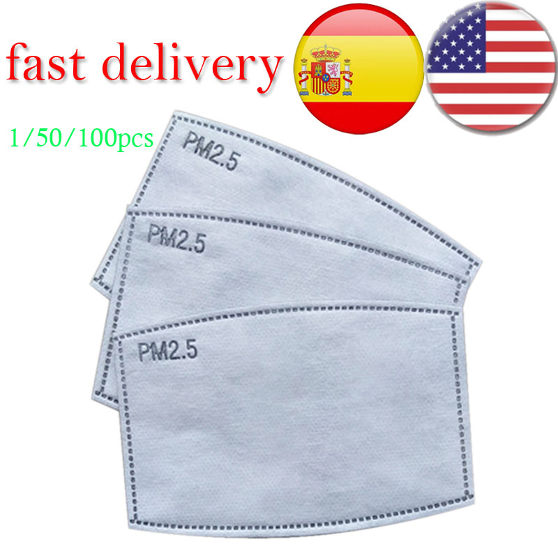 Pm25 Premium Activated Carbon Filter Mask Mouth-Mask FILTER-PAPER -Haze 1/50/100pcs Dropshipping 2020