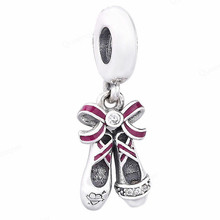 925 Sterling Shoes European Charms Bead Fit For Pandora Original Bracelets DIY Pendant Charm Beads Girl Women Jewelry Making 925 sterling heart european charms bead fit for original pandora bracelets diy pendant charm beads girl women jewelry making
