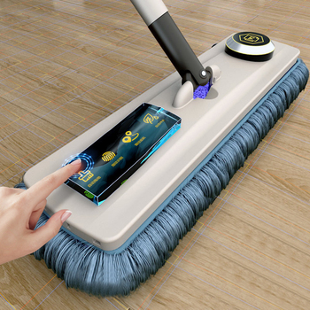 YOREDE Magic Self-Cleaning Squeeze Mop Microfiber Spin And Go Flat Mop For Washing Floor Home Cleaning Tool Bathroom Accessories