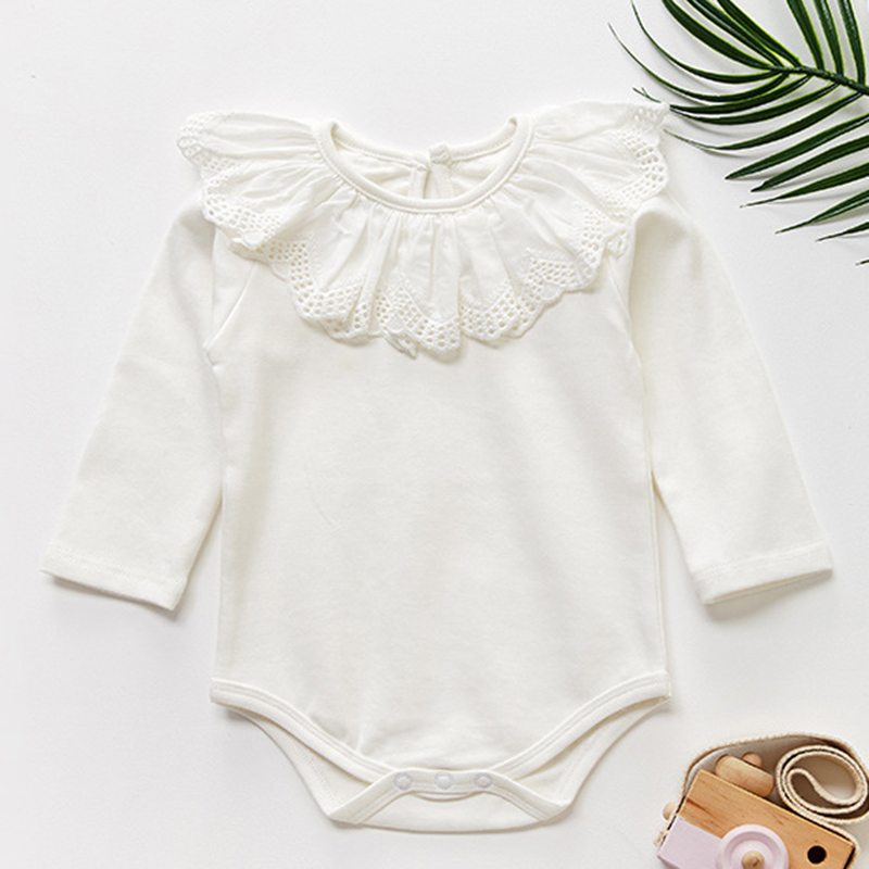 Baby Girl Romper Long Sleeve Clothes For Girls Lace Newborn Baby Rompers For Girls Jumpsuit 100% Cotton Baby Boys Romper | Happy Baby Mama