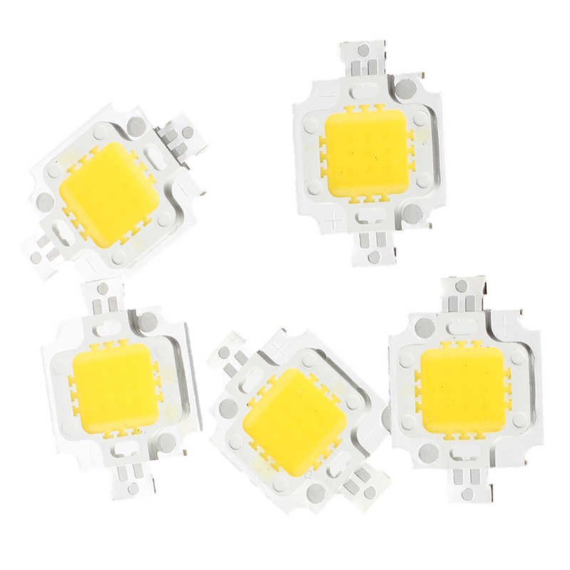 5 PCS IC LED Lamp Warm Wit 10W 3200K 800LM 9-12 V