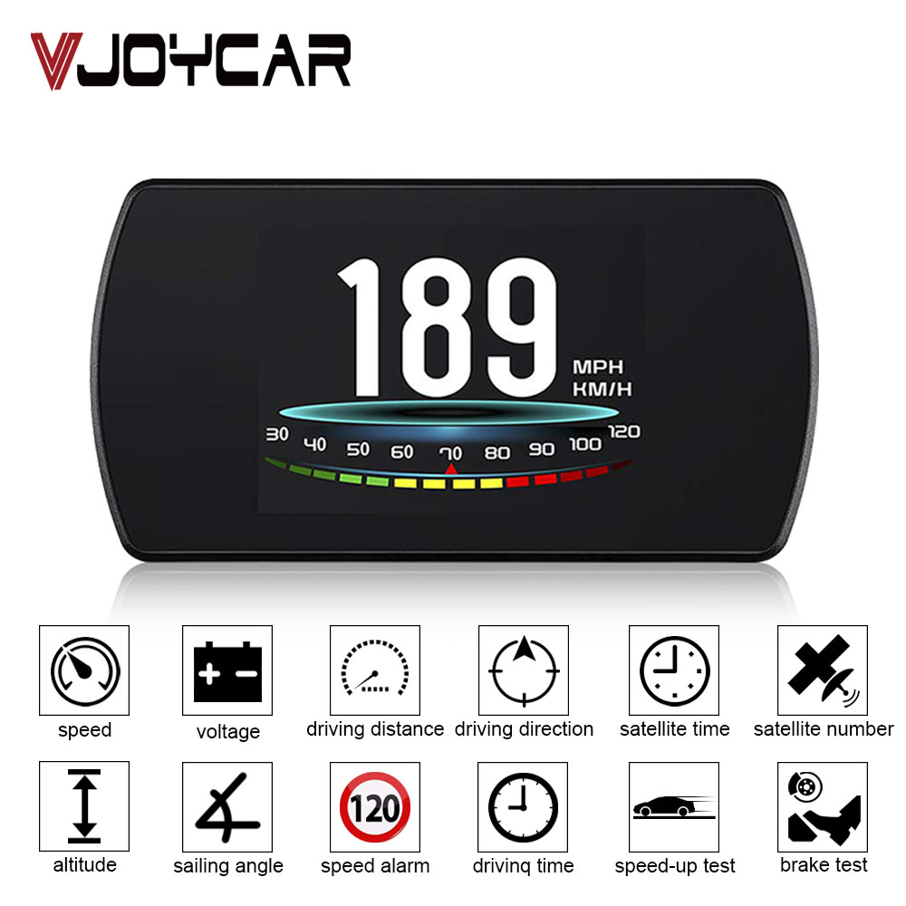 China Best GPS Speedometer MPH KM H Time Clock Driving DistanceSpeedup Brake Test Overspeed Alarm Compass Direction Car Voltage