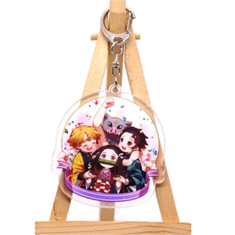 Аниме демон убийца Kimetsu no Yaiba Kamado Tanjirou косплей реквизит брелок Kamado Nezuko акрил прекрасная цепочка для ключа брелок - Цвет: style2