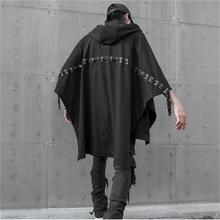 Abrigo con capucha vintage de murciélago holgado de moda con personalidad oscura