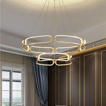Simple Modern Led Chandelier Gold Lustres Led Ceiling Mounting Chandelier Lightings For Dining room Kitchen Living room Bedroom