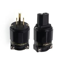 FURUTECH HIFI FI 11M N1 / FI 11 N1(G) Вилка усилителя мощности звуковых частот 24K позолоченный разъем IEC 1 комплект/2 шт 15A/125V Hifi MATIHUR hi