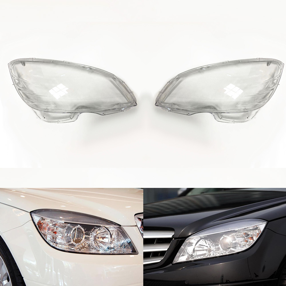 Car Headlamp Lens For Mercedes-Benz W204 C180 C200 C220 C280 C300 2007 ~ 2010 Car Headlight Lens Replace Auto Shell Cover