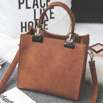 Fashion Hairball Women Handbags Retro Shoulder Crossbody Bags for Female PU Leather Bag Totes