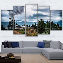 5 Planes Train Room Decor Canvas Art Painting Picture Photo Living Office for Women and Men