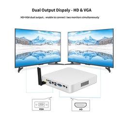 HTPC WIFI Windows 10 Mini PC Intel Core i5 7200U 3317U 4200U i7 4500U USB*6 Mini Computer Cooler Desktop WIFI VGA+HDMI 4K HD