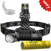 NITECORE lampe frontale étanche HC33, lampe torche alimentée par batterie Rechargeable 3500mAh 8A, livraison gratuite, 1800lms, vente