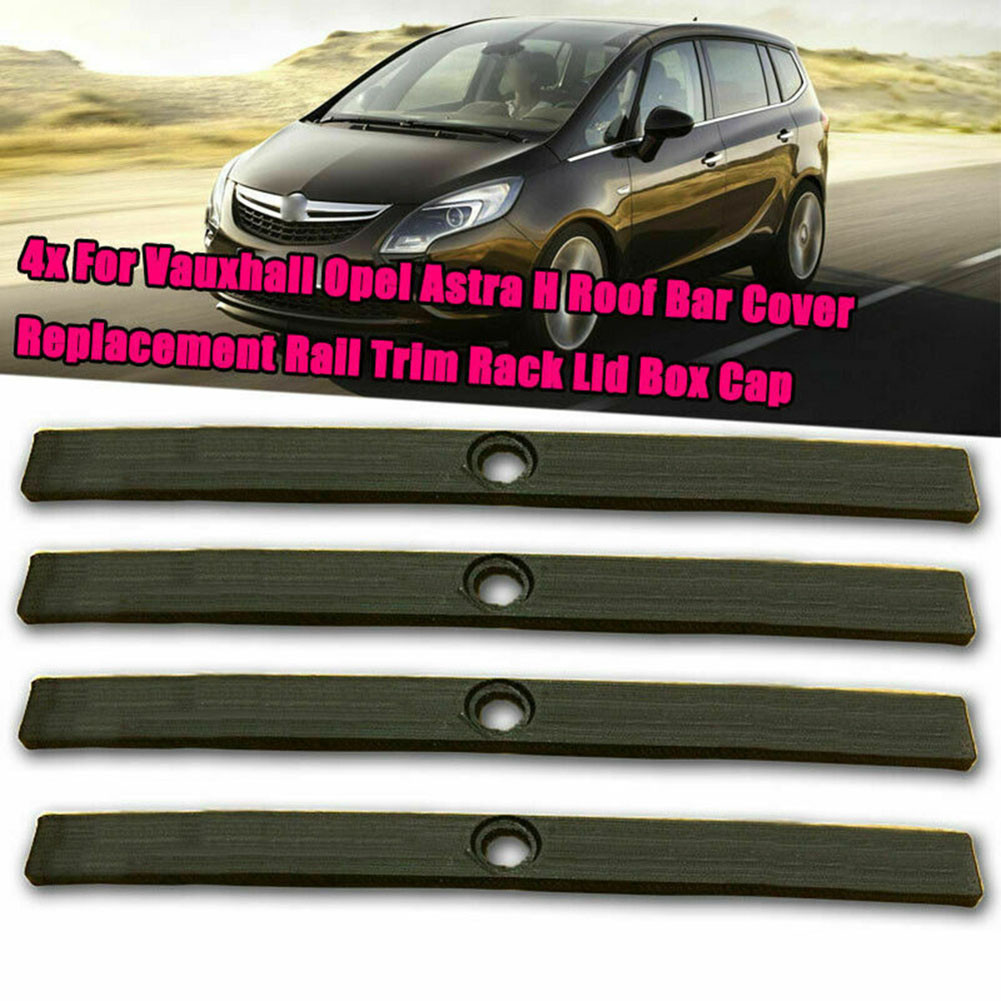Car Replacement Rail Trim Rack Lid Box Cap Stickers For Vauxhall Opel Astra H Roof Bar Cover 2004~2008 2009 2010~2014