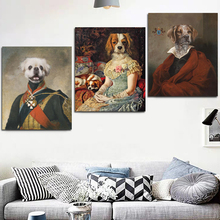 Frame Anthropomorphic Animal Dress Up Wall Art Canvas Painting Pictures Colorful Picture For Living Room Home Decoration