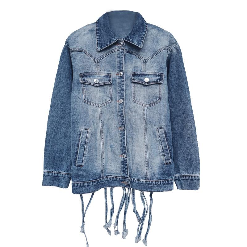 Dettagli su PKZ28 Nuovo Moda Donna Oversize Cut Out Stile Biker Nappa Jeans Cappotto Giacca