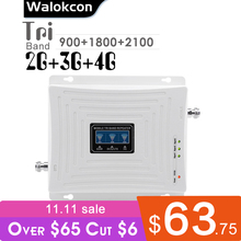 Gsm 900 Dcs 1800 Wcdma 2100 Mhz Cellulaire Signaal Booster 70dB Gain 2G 3G 4G Tri Band mobiele Signaal Repeater Gsm B1 B3 Versterker
