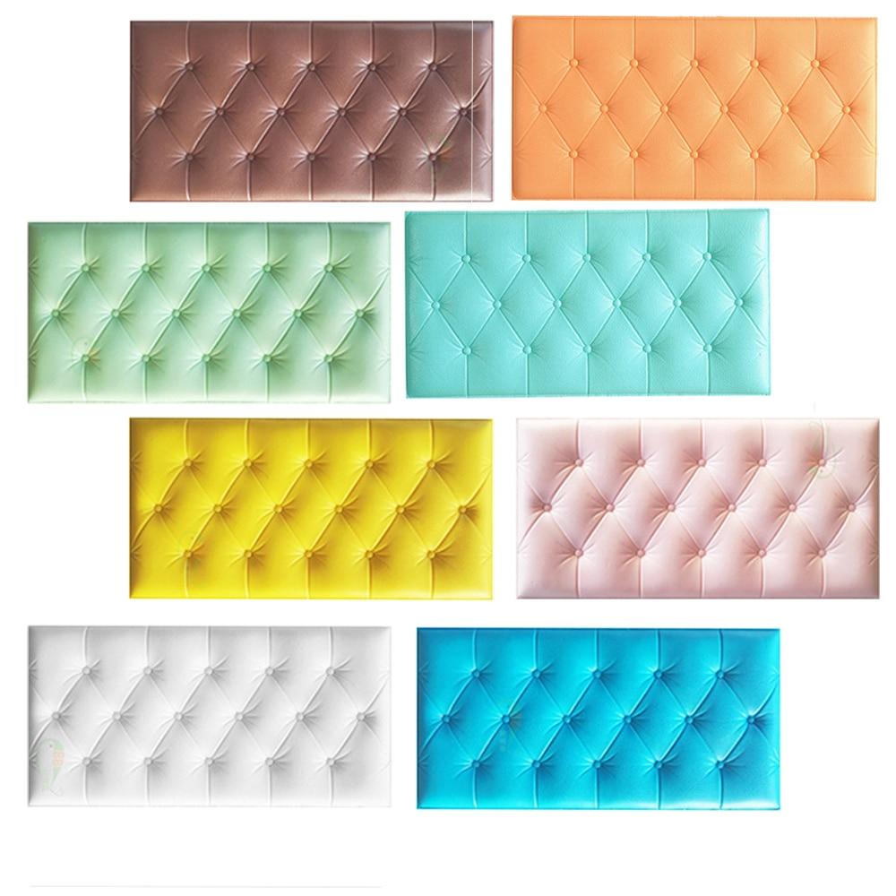 3D Waterproof Wallpaper Faux Leather Foam Self Adhesive Wallpaper For Living Room Bedroom Kids Room DIY Wall Stickers Background