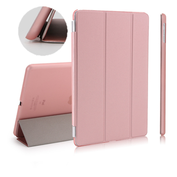 Case For iPad Pro 10.5 9.7 2017 2018 PU Leather Tri-Fold Stand smart cover For iPad Air 3 10.2 2019 PC matte back Tablet case for ipad pro 12 9 case aiyopeen 3 fold pu leather smart wake up sleep with matte transparent pc back cover magnetic flip stand