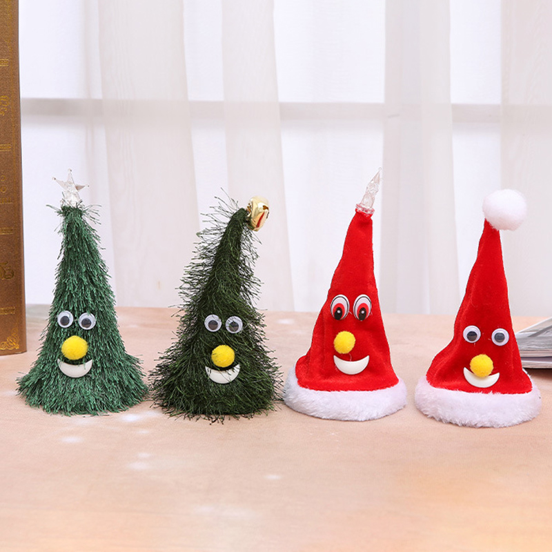 Funny Shaking Christmas Tree Hat Electronic Toy Music Doll Xmas Decor Ornament For Kids 998
