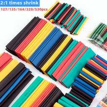 127/135/164/328/530pcs 2:1 shrinkable insulation heat shrinkable tube wire and cable data cable protective cover electronic DIY