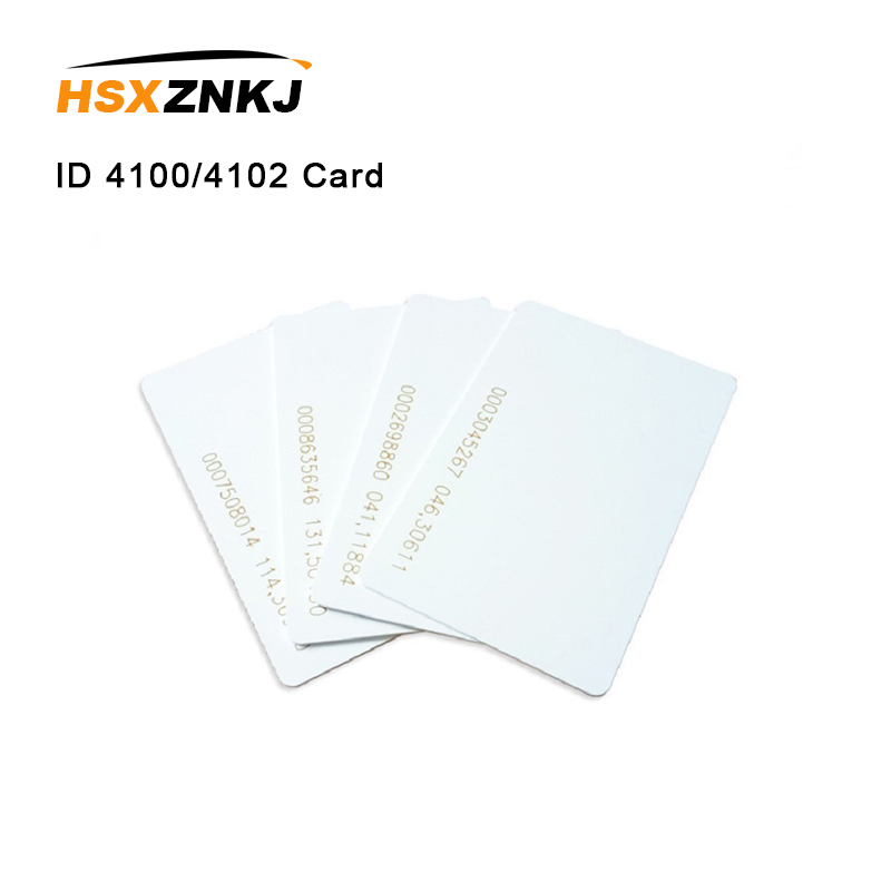 50pcs Quality Assurance EM ID 4100/4102 CARD Fit For Access Control Time Attendance Reaction ID Card 125KHZ RFID Card