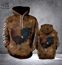Galo camuflagem 3d impresso hoodie harajuku moda moletom com capuz outono unisex jaqueta pulôver transporte da gota