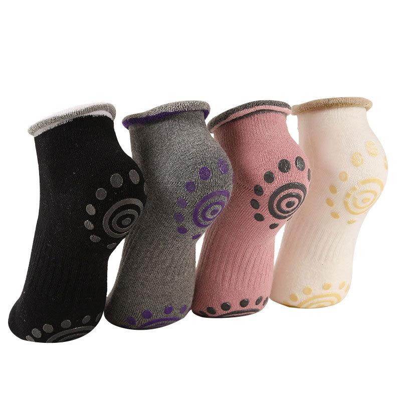 Professional Women\'s Yoga Socks Non Skid with Grips BreathableBarre Socks Comfortable Cotton Pilates Socks for Women
