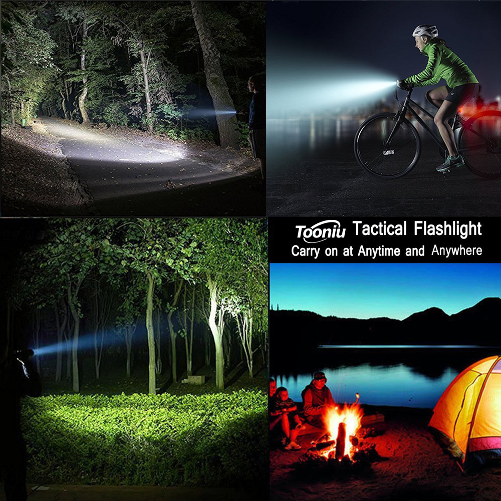 Купить с кэшбэком LED Flashlight Outdoor Camping Powerful Torch 5 lighting modes Zoomable light Used for adventure hunting, fishing,etc.