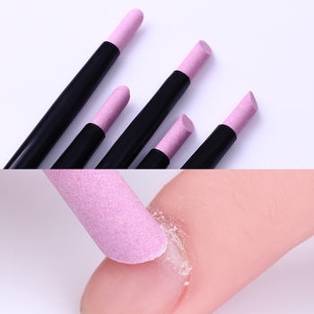 1 Set Pink White Form Nail Buffers File For UV Gel White Nail 4