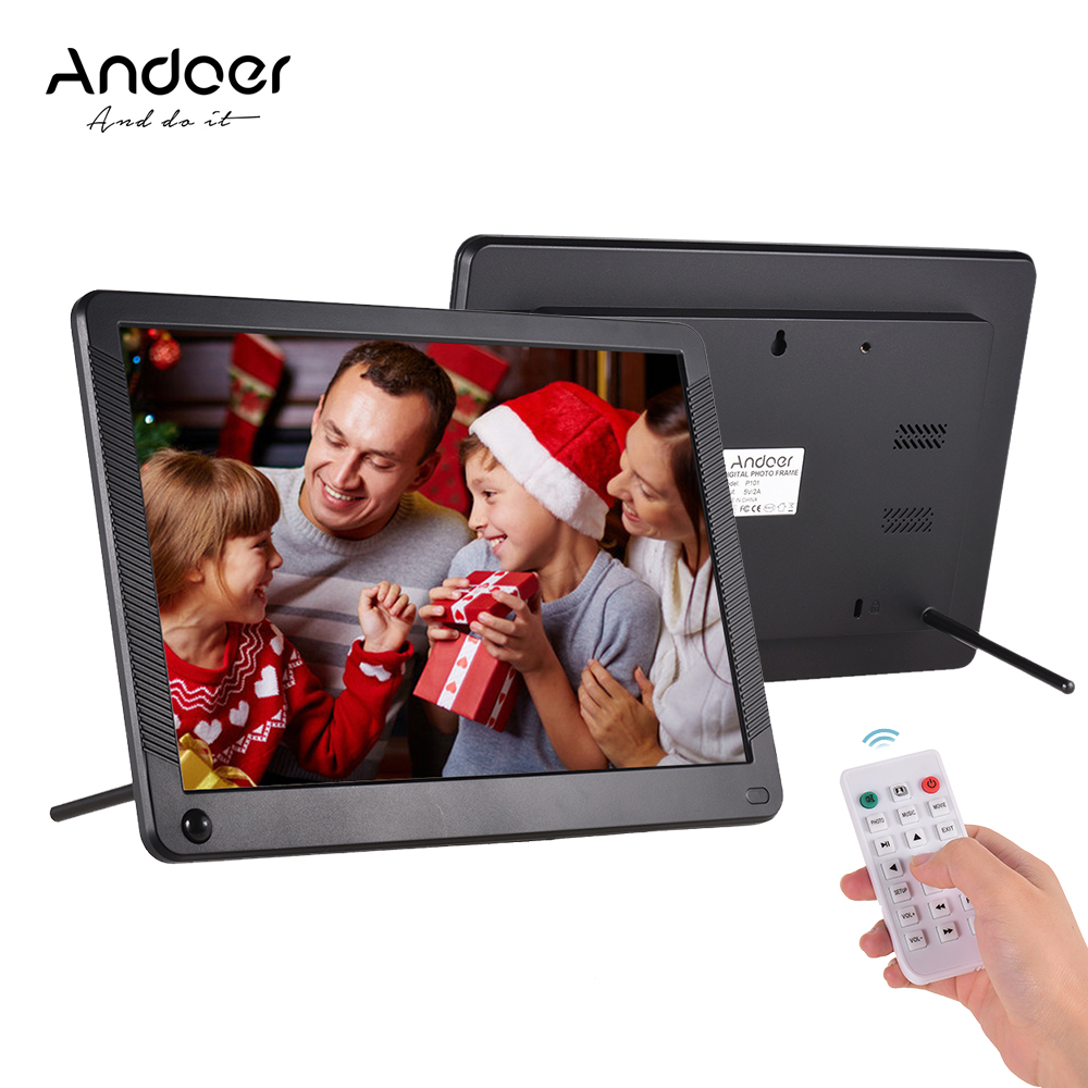 Andoer 15 Inch Digital Picture Frame 1280x800 HD Digital Photo Frame with Motion Detection Sensor and Remote Control Support Music//Video//eBook//Clock//Calendar Functions