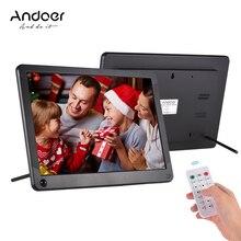 Andoer P101 10 дюймов светодиодный цифровая фоторамка ips настольные электронные альбом 1280*800 HD поддерживает музыку/видео плеер с пультом дистанционного Управление
