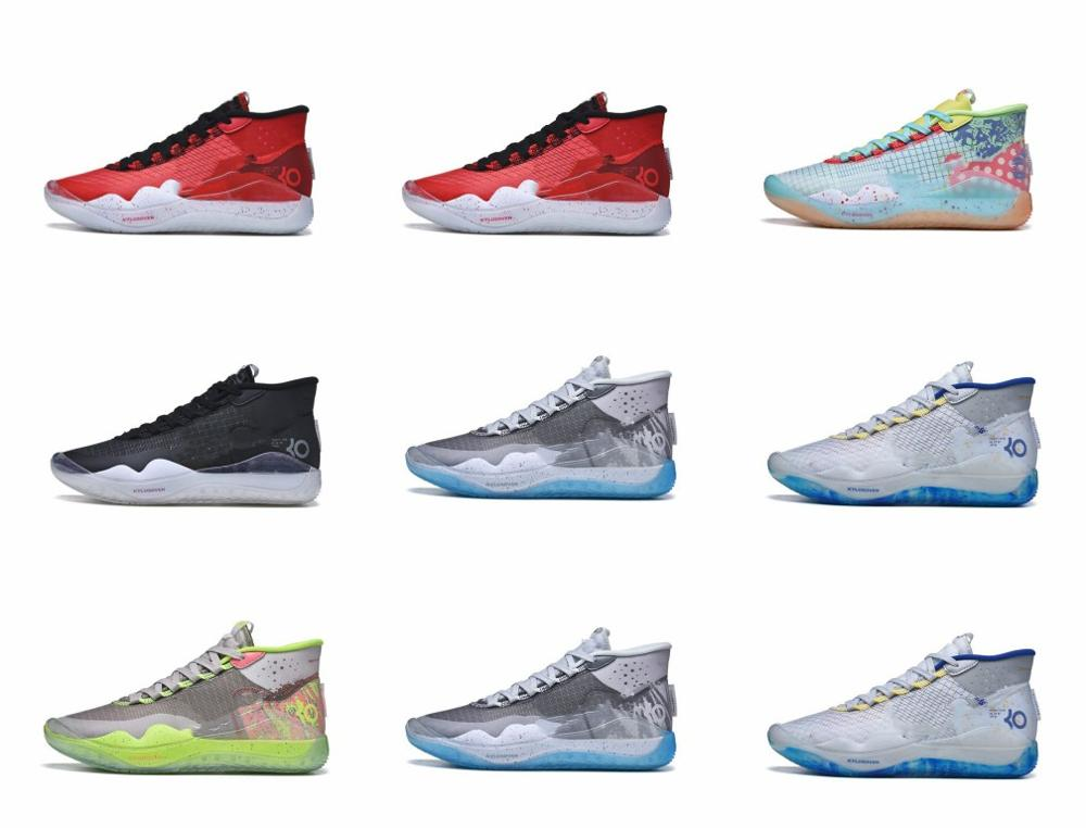 2019 Mens Brooklyn-Nets Zoom KD12 XII Peach Jam Basketball Shoes For Cheap Kevin Durant 12s USA KD 12 EYBL Chameleon Luxury Snea