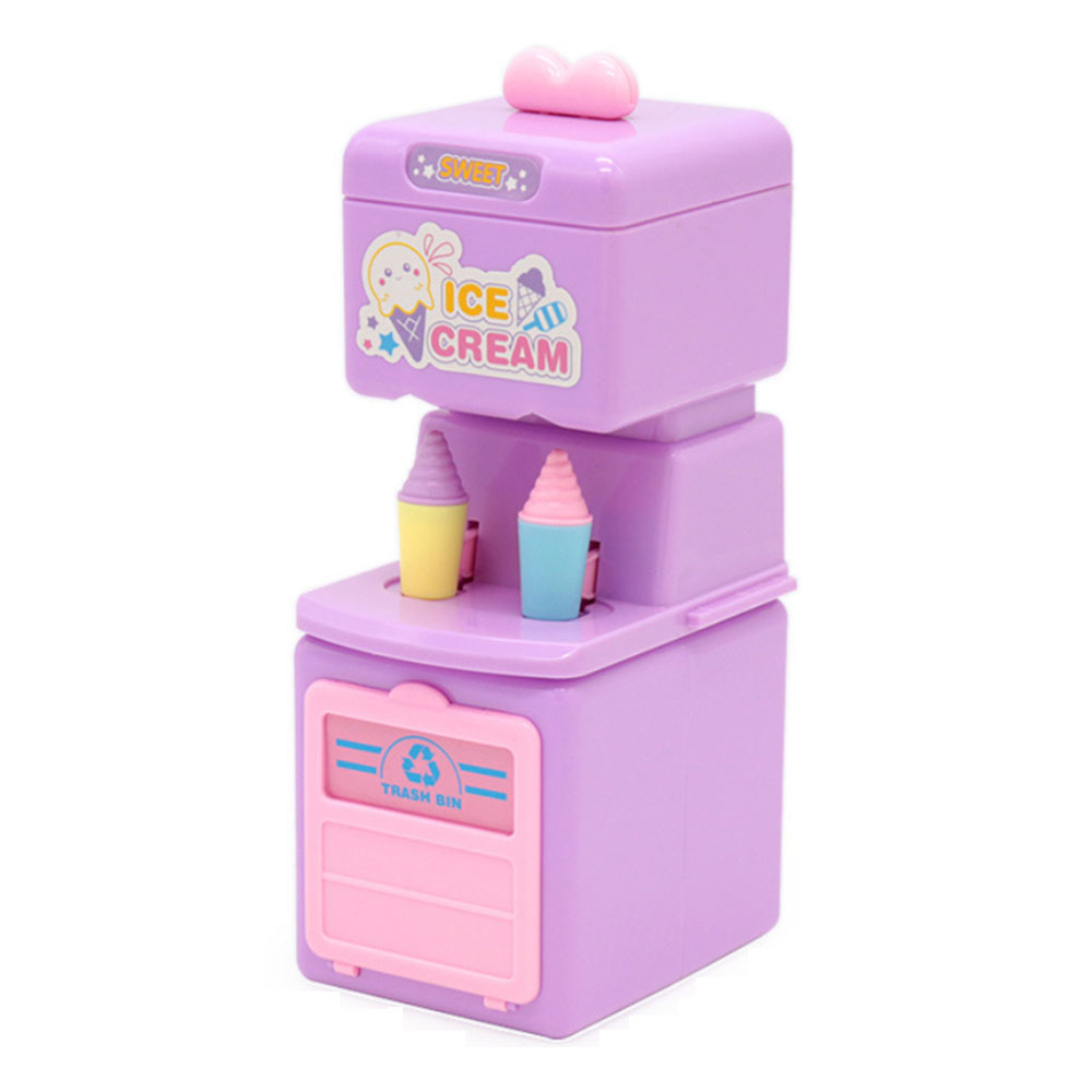 Pretend-play House Toy Mini Ice Cream Maker Toys Simulation Machine Dessert Educational Cartoon Toy Brithday Gift For Girls Kids