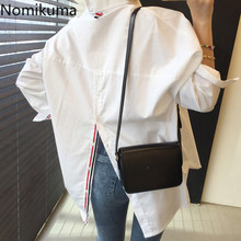 Nomikuma informal-Blusa De manga larga para primavera, camisa femenina elegante con abertura, estilo coreano, 2021