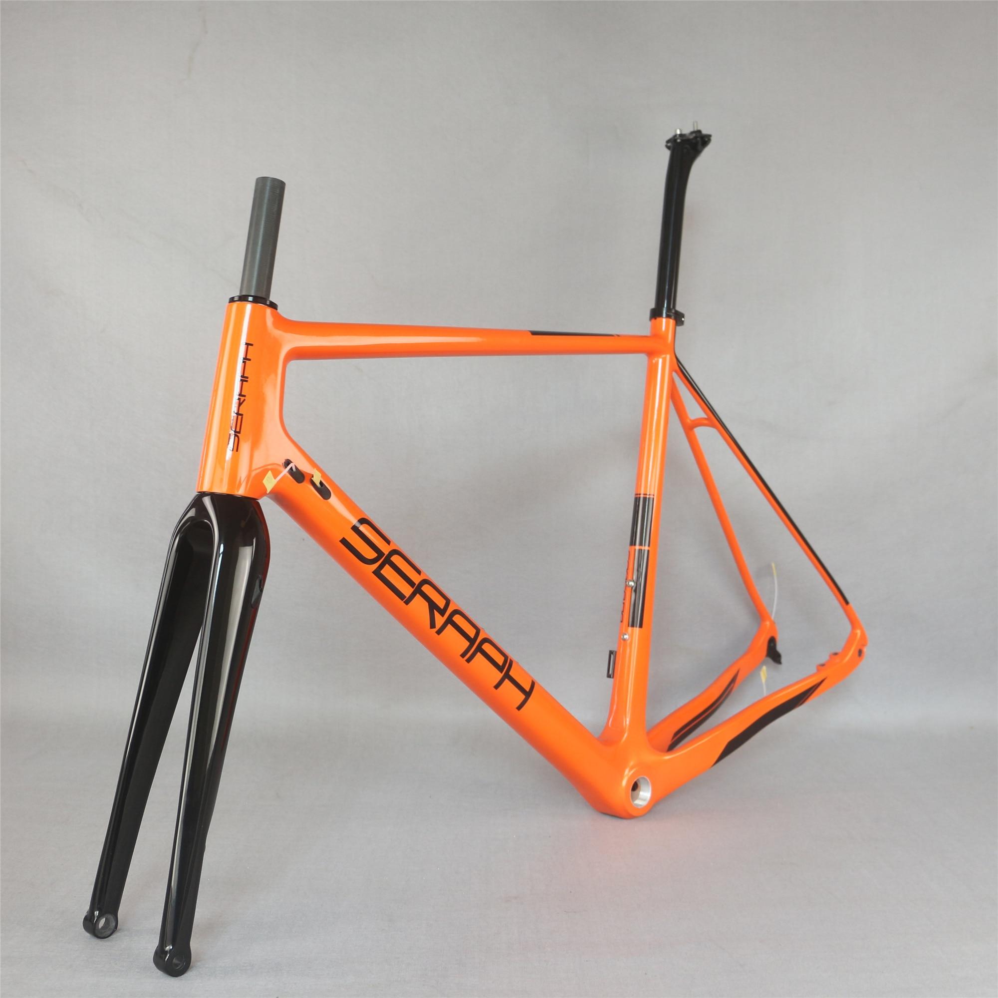 Seraph Flat Mount Disc Brake All Glossy Custom Paint 100X15/100X12mm Fork  Carbon Gravel Frame GR029