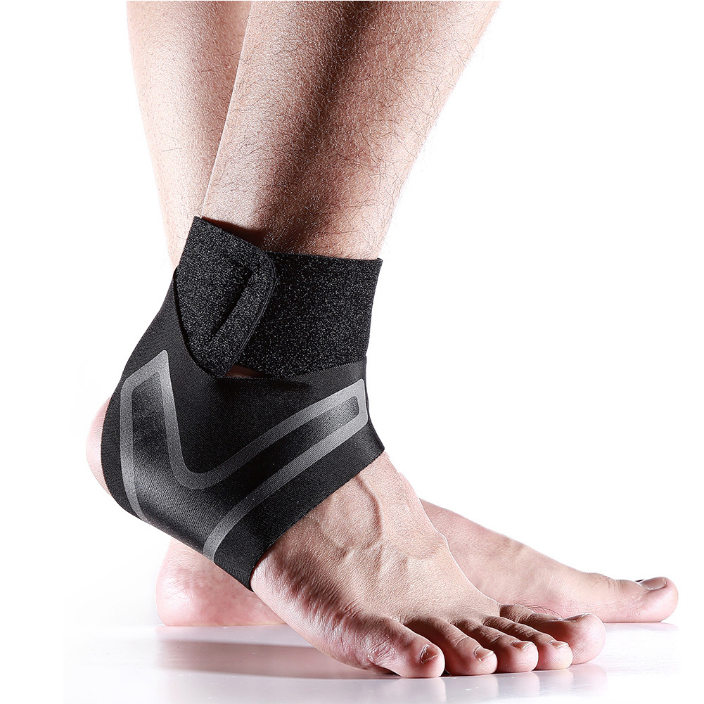 1PC Adjustable Ankle Support Pad Ankle Sleeve Pressure Anti-Spinning Elastic Breathable Support Fitness Sports Safety Prevention