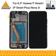 """オリジナル axisinternational 6.3 """"huawei 社ノヴァ 3i 1080p スマート + (p スマートプラス) INE LX1 L21 液晶表示画面フレームタッチデジタイザー"""