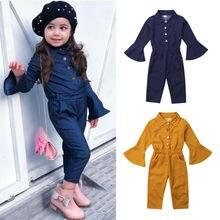 Emmamaby niños pequeños bebé Niñas Ropa manga campana mameluco pantalones largos otoño trajes
