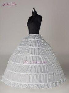 Image 5 - Julia Kui 3& 6 Hoops Crinoline  A Line Wedding Petticoat Picture White Color