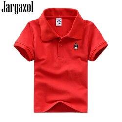 Jargazol/Летняя футболка-поло с короткими рукавами для маленьких детей; футболка-поло для мальчика; костюм для девочек с вышивкой из мультфильм...