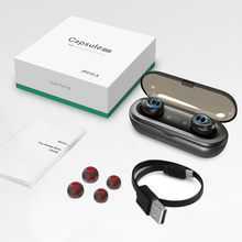 IP010-X Capsule Pro Bluetooth 5.0 Earphone 50 Hour Playtime Support AAC TWS Earbuds Super Bass Stereo Hi-Fi Sports Headset.(China)